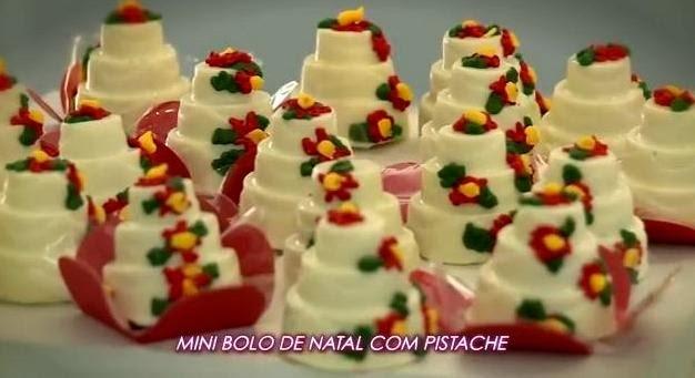 Mini Bolo de Natal com Pistache