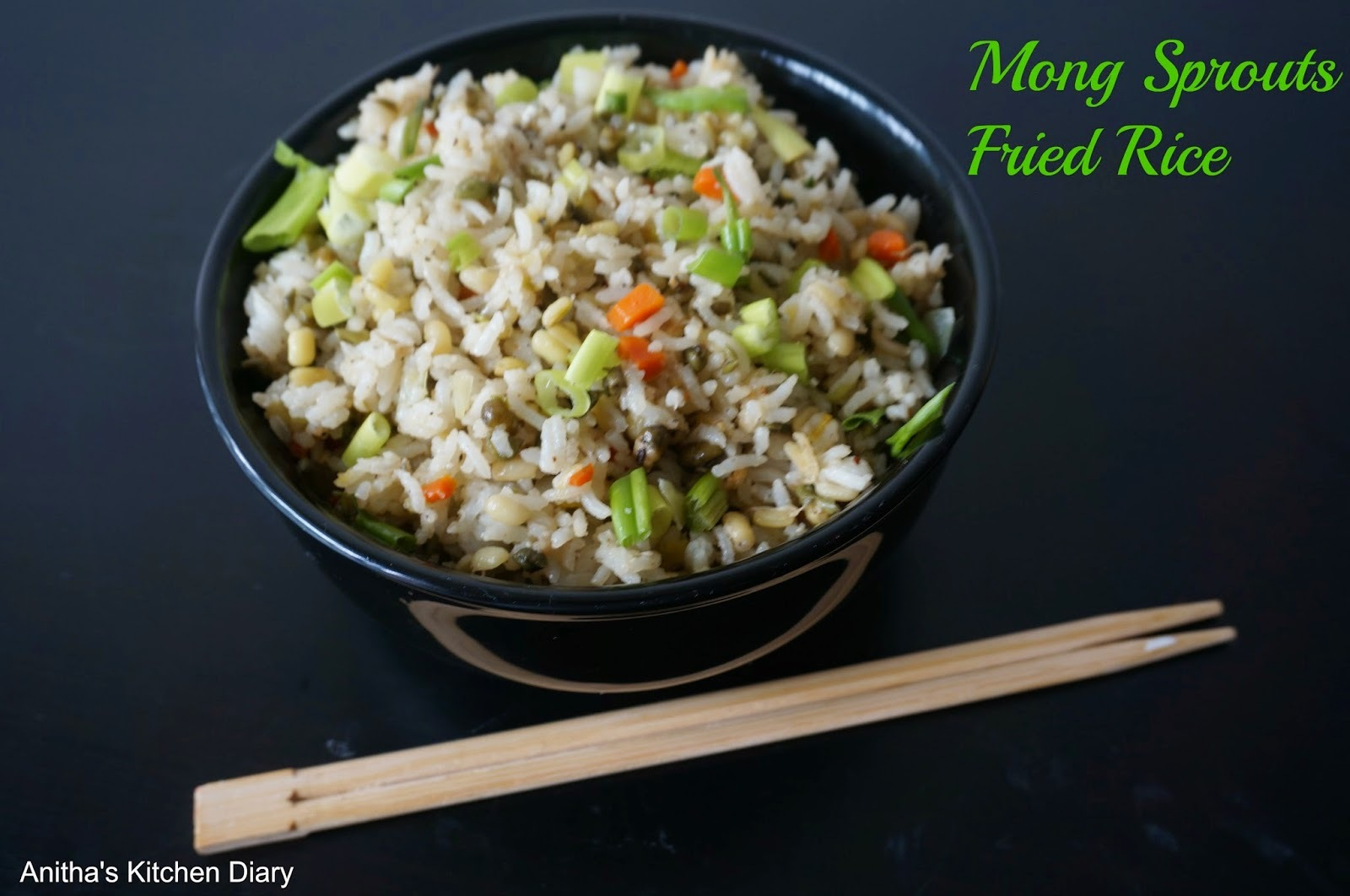 Moong Sprouts Fried Rice | Green Gram Sprouts Fried Rice