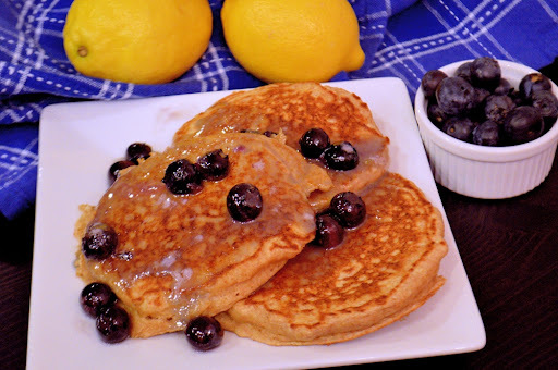 Whole Wheat Lemon Ricotta Silver Dollar Pancakes