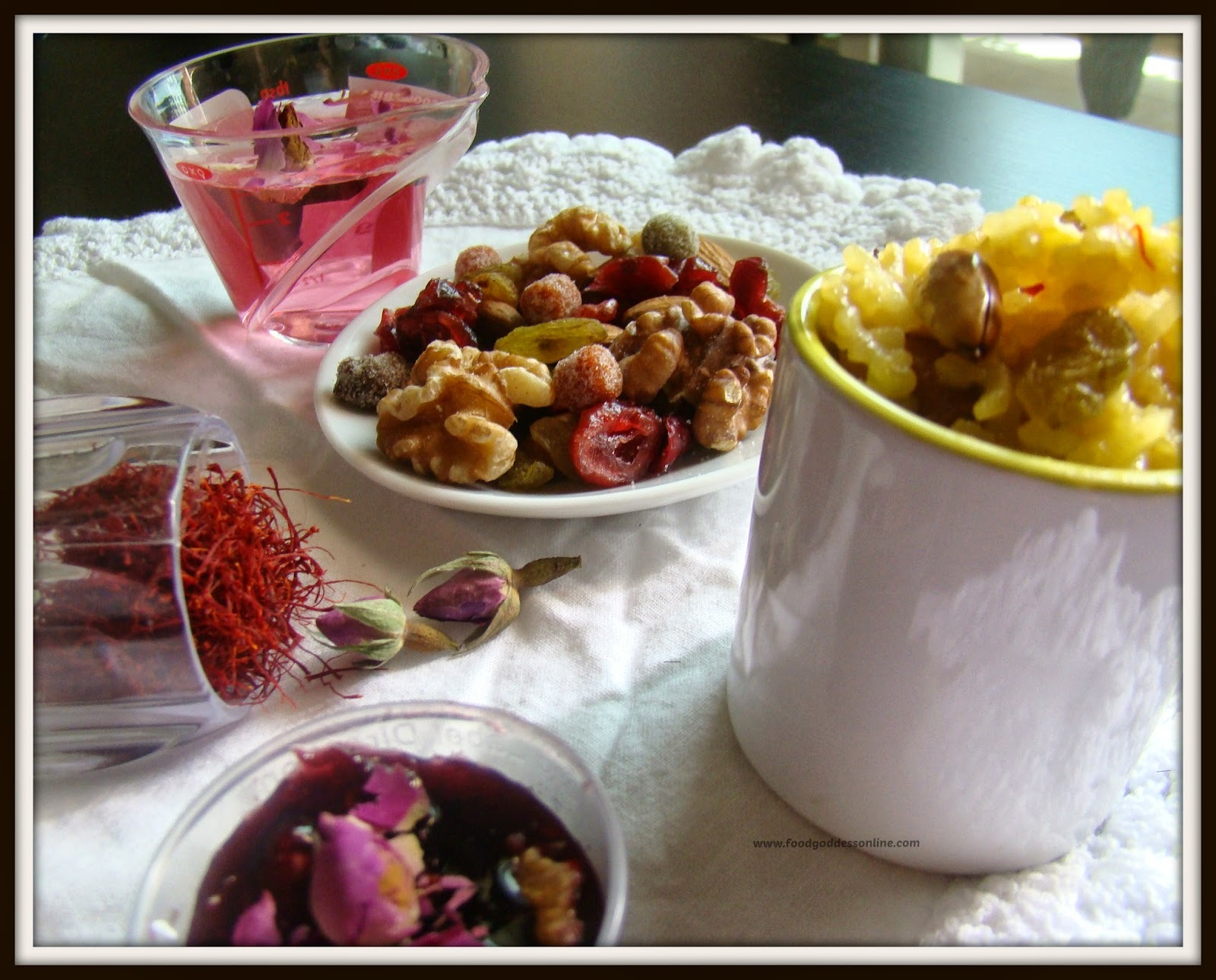 Happy Nuroz - Recipe for zard pulao- gulkhand - rose sherbet/rose petal cordial