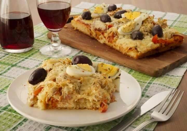 Torta Pizza de Frango de Liquidificador