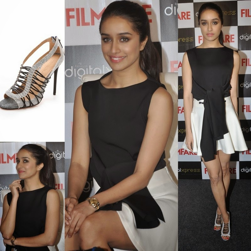 Shraddha Kapoor in Osman and Anand Bhushan at Filmfare Magazine Cover Launch