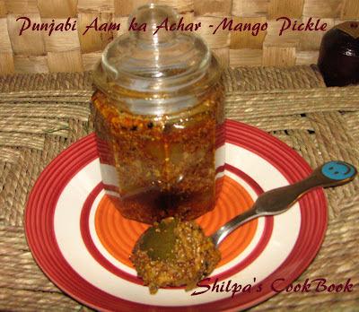 Punjabi Aam ka Achar - Punjabi Mango Pickle
