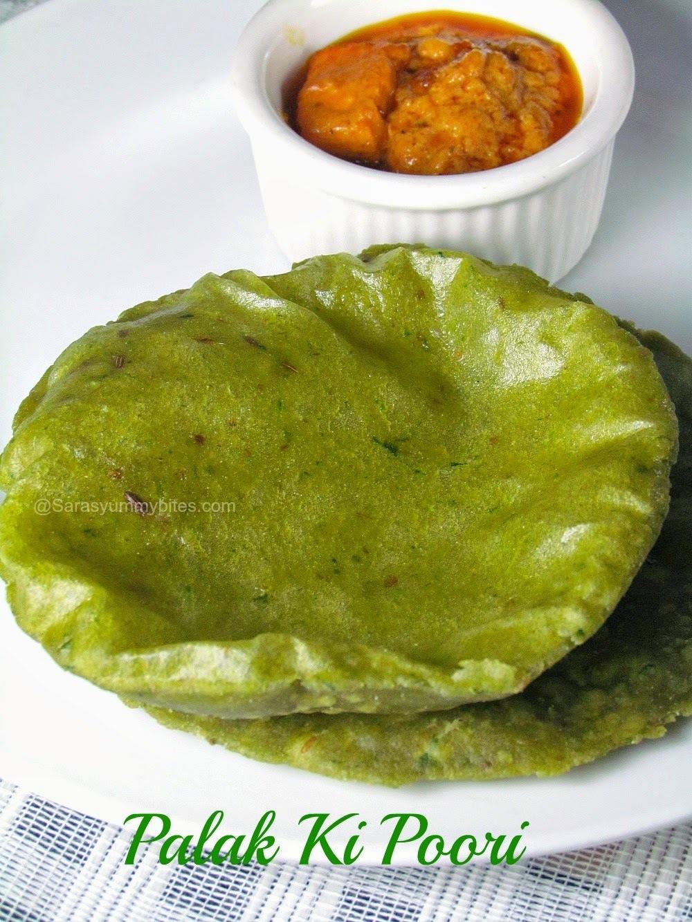 Palak Ki Poori / Spinach Poori From Madhya Pradesh
