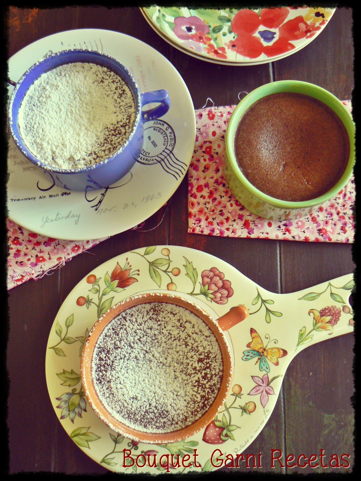 Pudding de castañas y chocolate