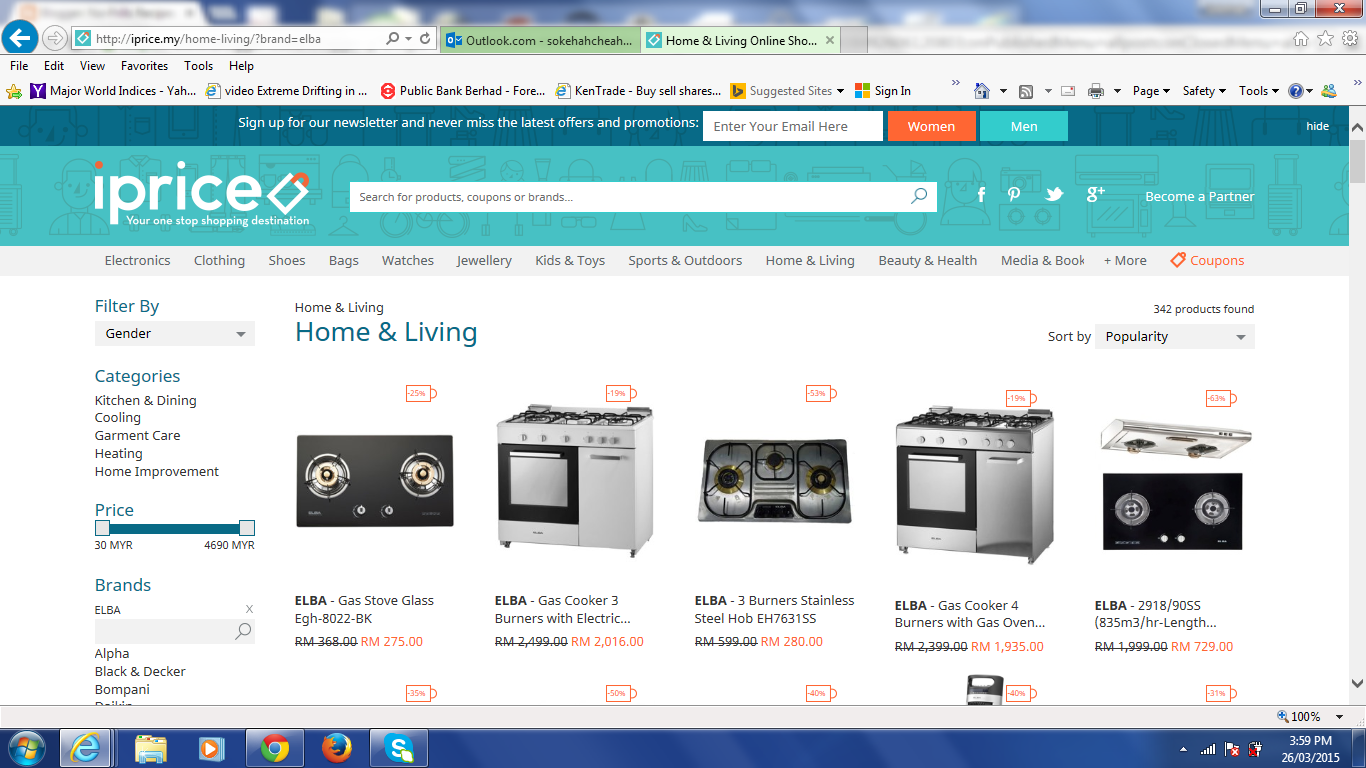 A one-stop on-line shopping platform ~ iprice