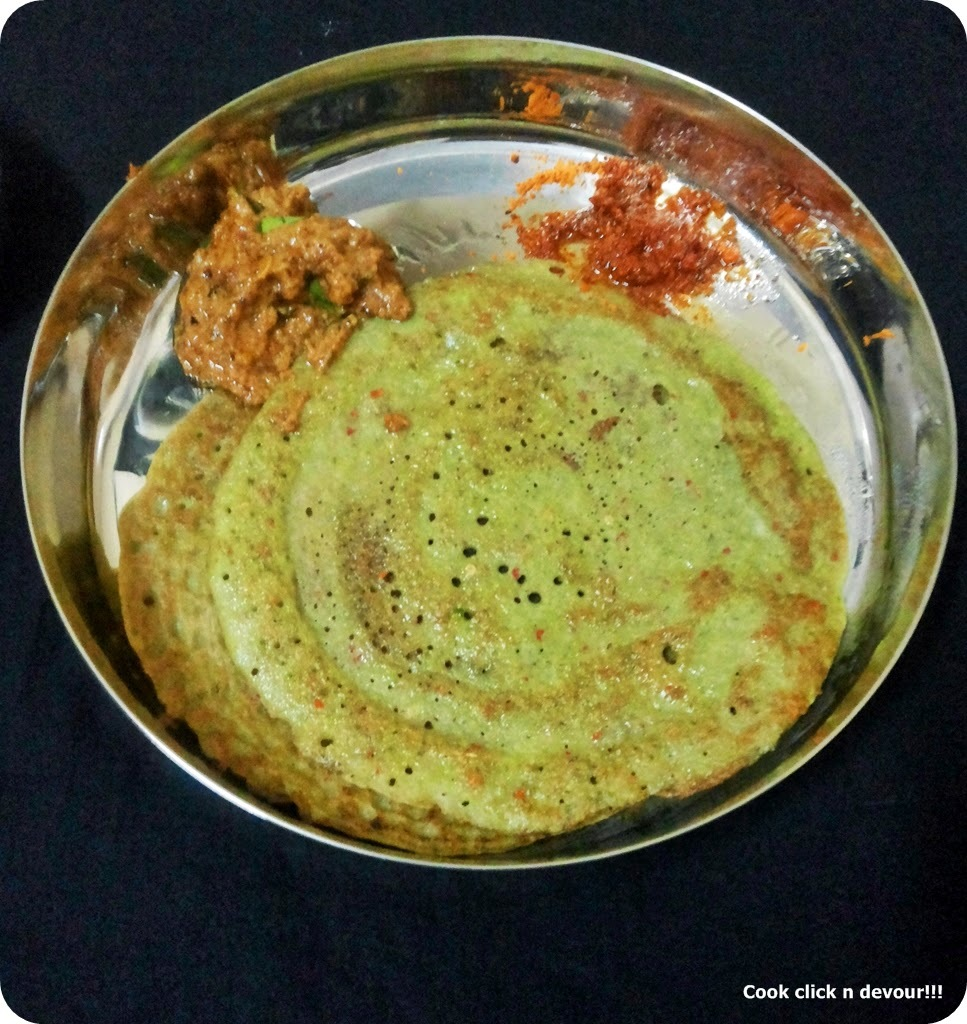 South Indian breakfast trail #5-Pesarattu and ginger chutney(allam pachadi)