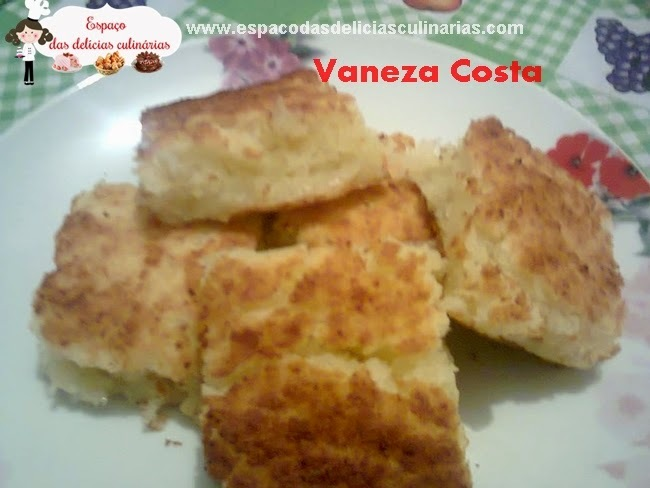Bolo Mané pelado (bolo de mandioca), de Vaneza Costa