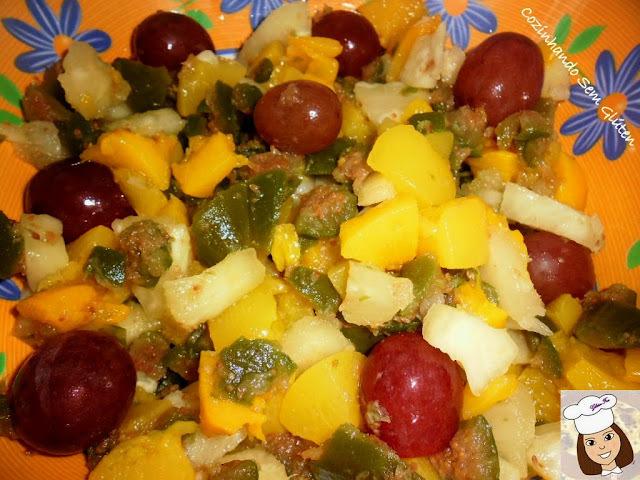 Delícia com frutas