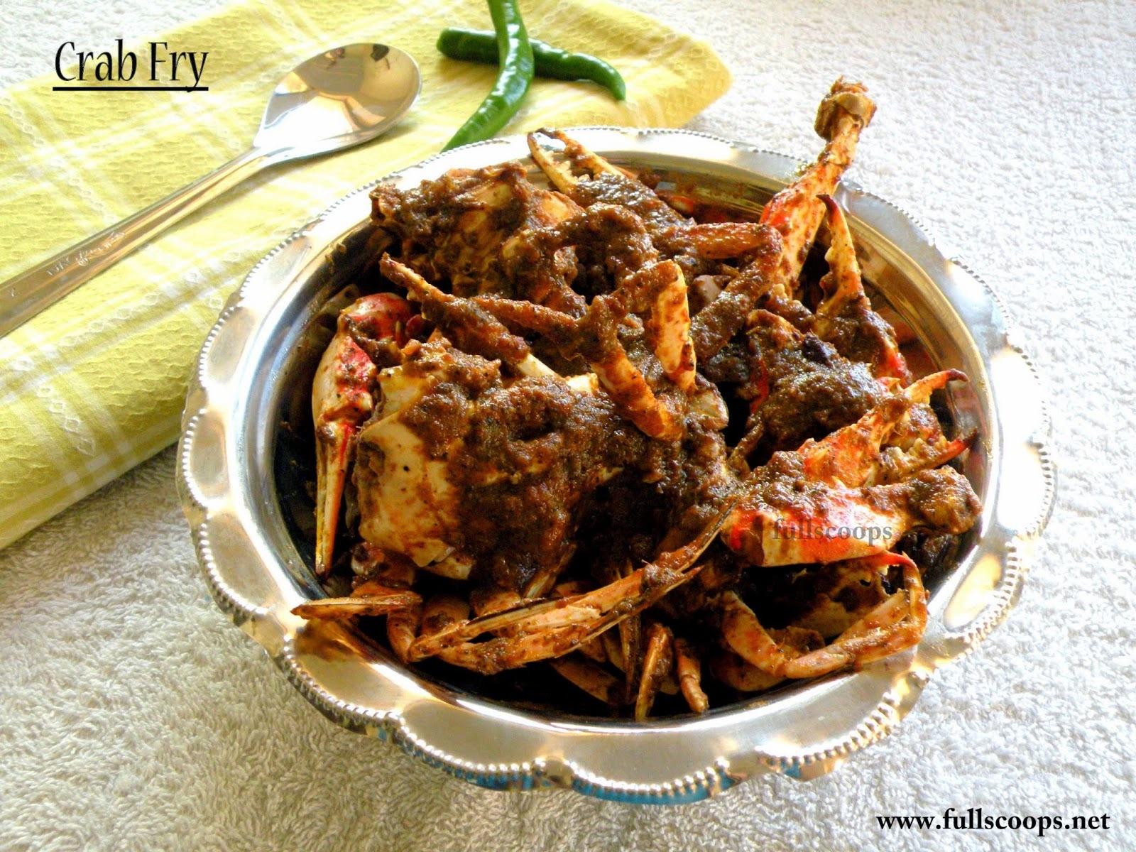 Crab Fry Recipe / Nandu Varuval Recipe