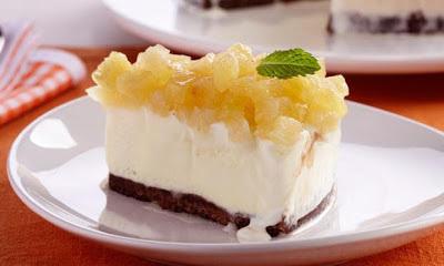 Torta Gelada de Abacaxi e Cookies