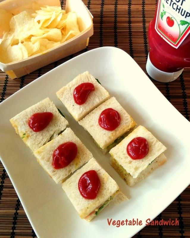 Vegetable Sandwich Recipe | How to Make Veg Sandwich