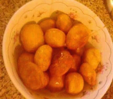 Λουκουμάδες με μέλι της Βέφας Αλεξιάδου Greek loukoumades-donuts of Vefa Alexiadou