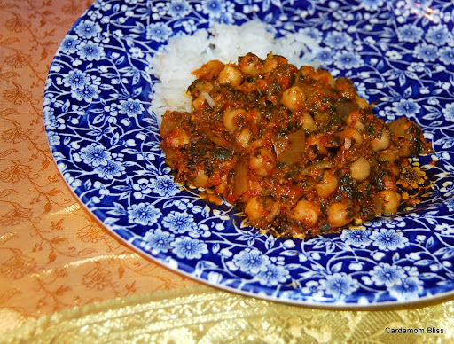 Channa Masala with Red Capsicum
