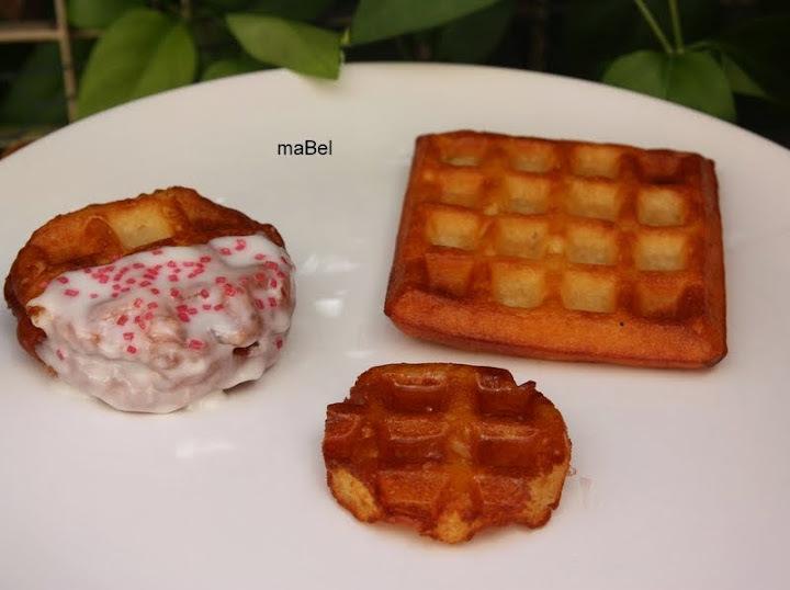 Wonut = Waffle + donut   Gofres fritos como donas