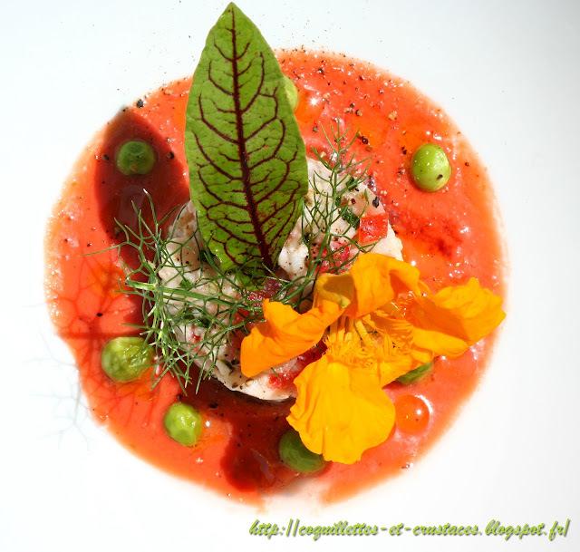 Tartare de carrelet aux fruits, gaspacho tomates-fraises... 15 minutes chrono!