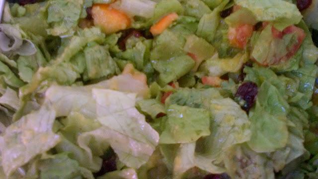 salada de acelga com manga
