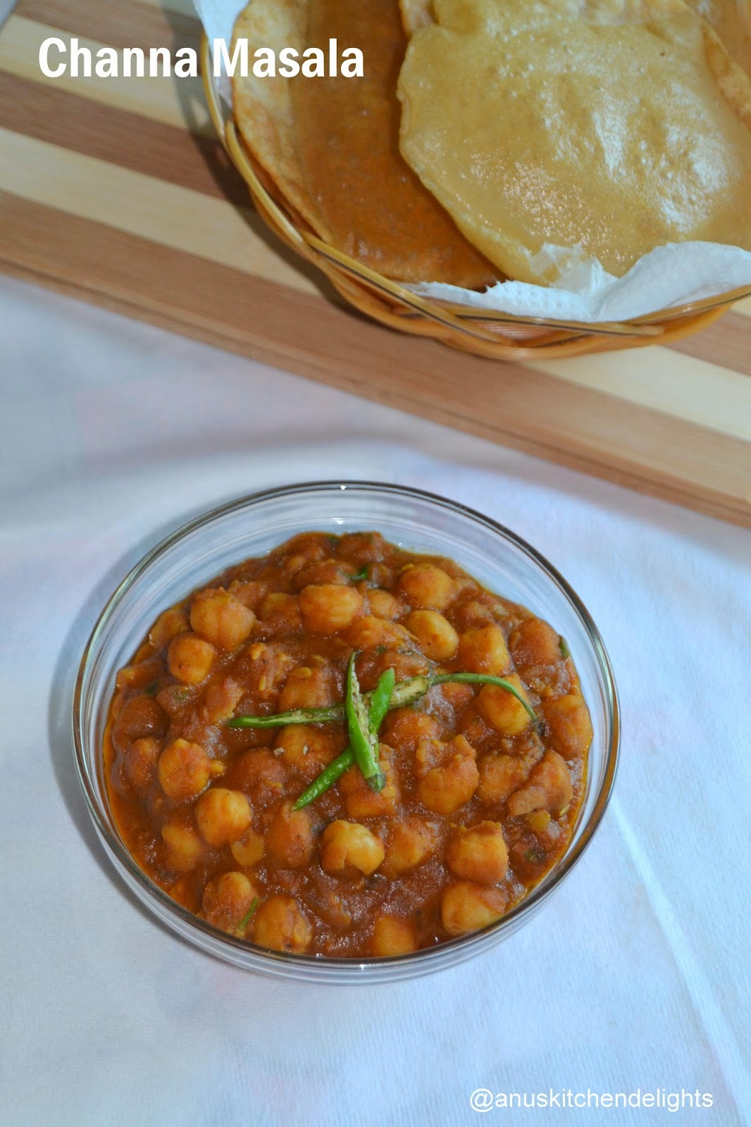 Channa Masala for Bhatura - Channa Masala Recipe