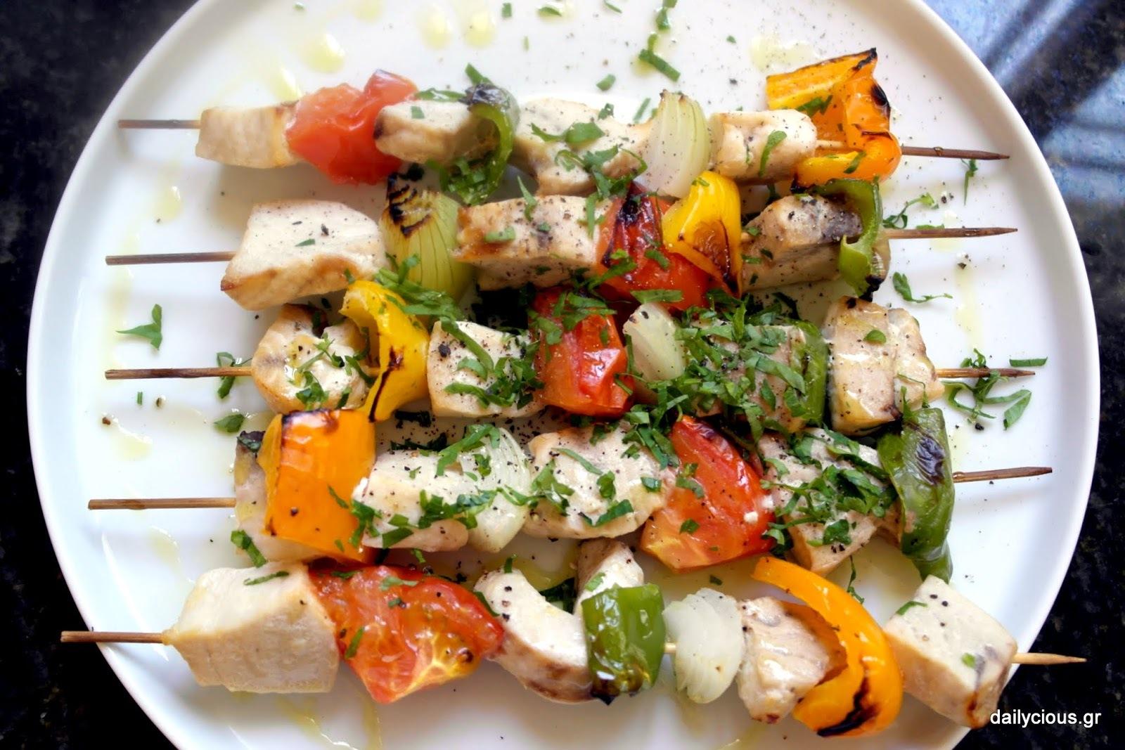 Ξιφίας Σουβλάκι με Λαχανικά.