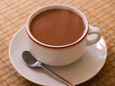 Chocolate quente no Microondas