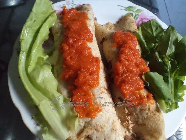 Panquecas de Aveia,frango e brocólis