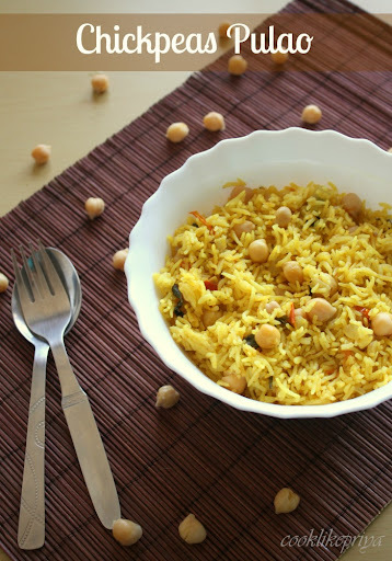 Chickpea Pulao | Channa Rice Recipe | Lunch Box Recipe