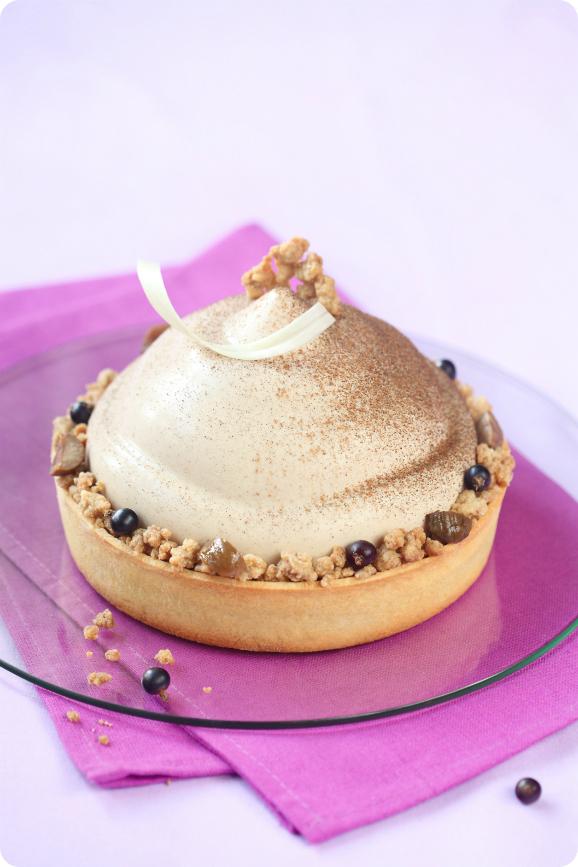 Каштановый торт-мусс с чёрной смородиной / Torta mousse de castanha portuguesa e groselha preta