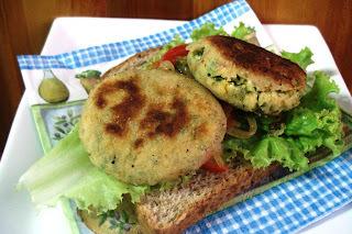 Hambúrguer Vegetariano de Grão-de-Bico