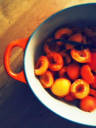 the pleasure of jam + diana henry's apricot and vanilla jam