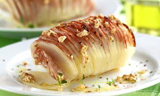 Batata assada com salame