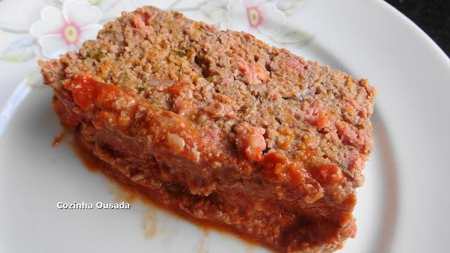 Meatloaf - Bolo de Carne Americano