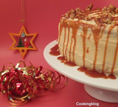 Bolo de caramelo e canela...e Feliz Natal!