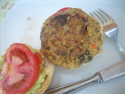 Mushrooms veggie burgers