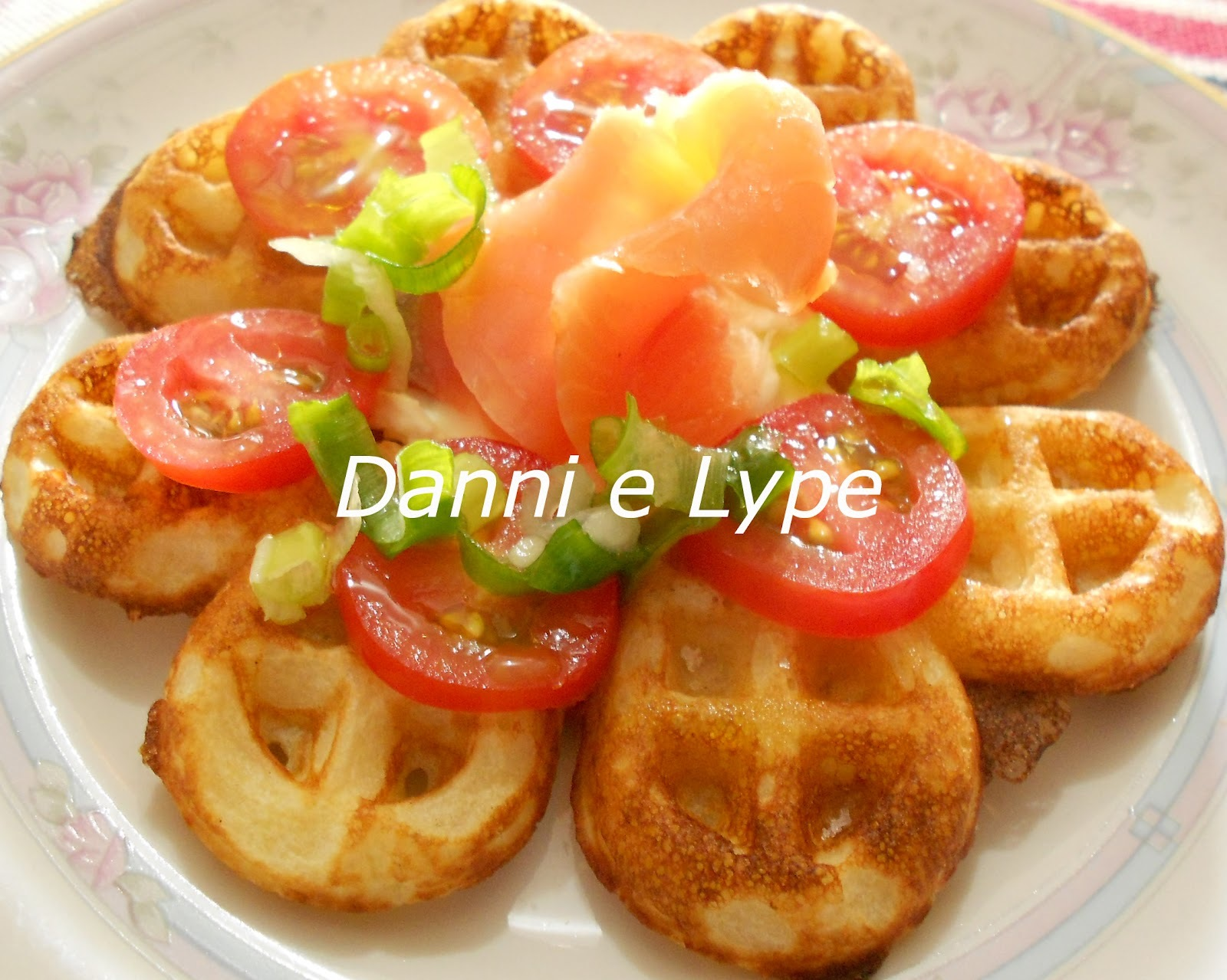 waffle crocante salgado receita