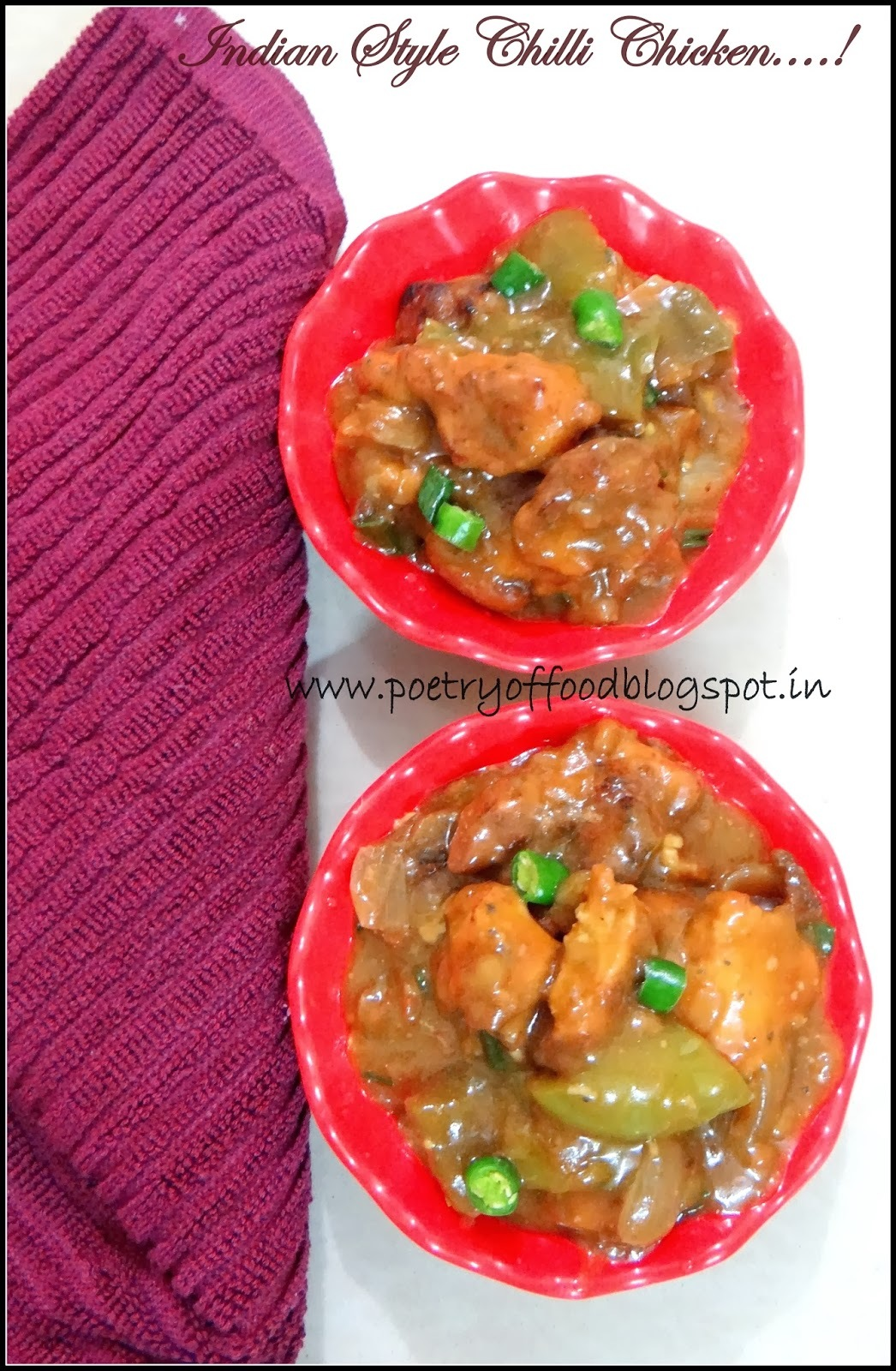 Indian Style Chilli Chicken .....!!!!