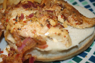 Peri Peri Chicken Burger with Spicy Potato Wedges - and the proper way to chop an onion