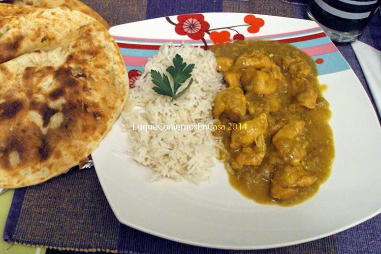 Pollo al curry con manzanas