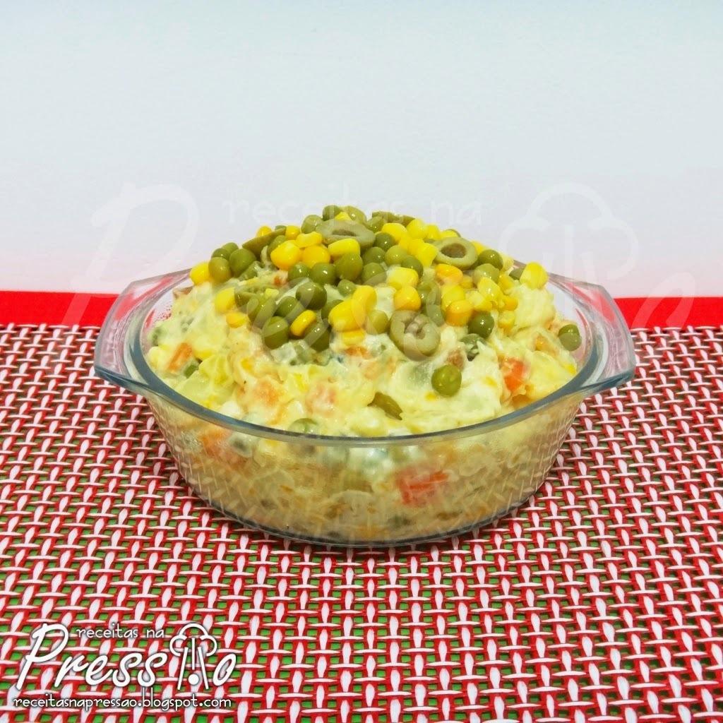 Maionese de Legumes Fácil na Pressão