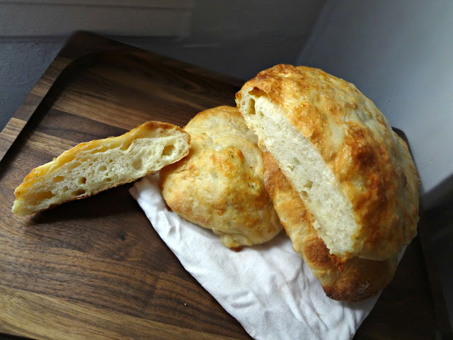 Ciabatta Bread with Morel & Leek Jack Cheese (Great Midwest Cheese Review)