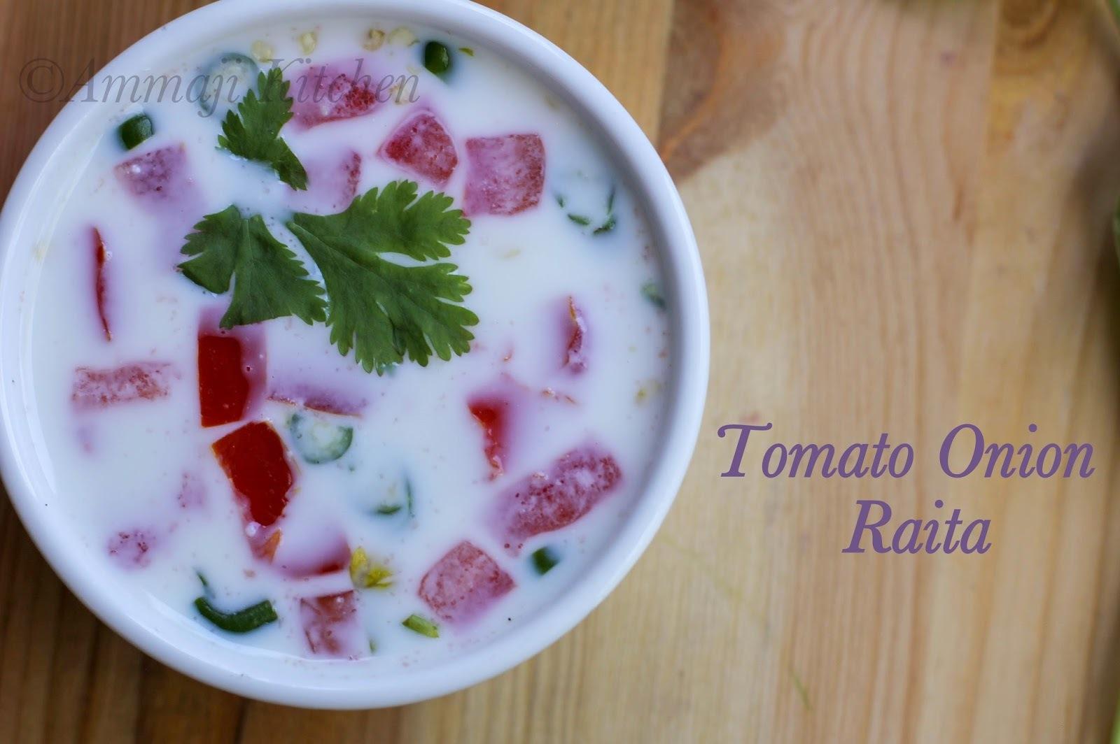 Tomato Onion Raita