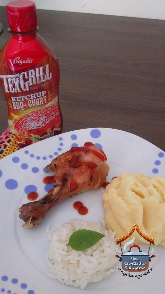 COXAS DE FRANGO AO MOLHO Texgrill Ketchup, BBQ + Curry D'Ajuda
