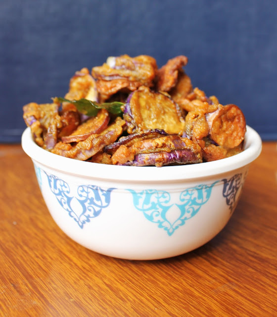 Brinjal Pakoda | Eggplant Fritters