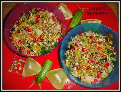 IDLI SPROUTS CHAT-EVENING SNACK