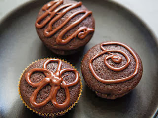 Eggless Chocolate Brownie Cupcake