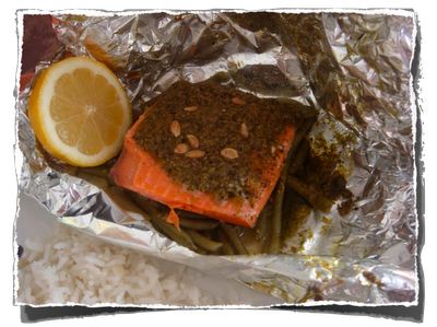 como preparar salmão em pedaços