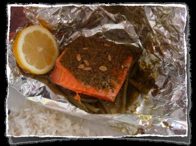 salmão defumado assado
