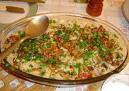 fácil de arroz de forno com frango com carne moída e presunto e queijo