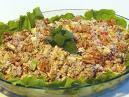 de salada com trigo de quibe legumes e maionese