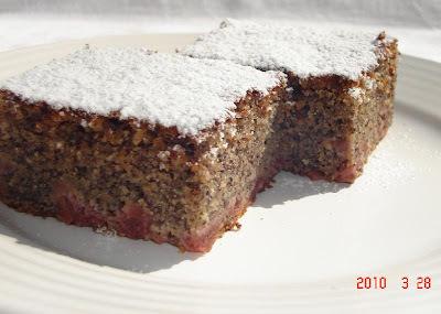 mákos meggyes kevert süti