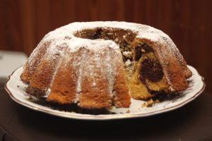 Torta marmolada de Chocolate y naranja
